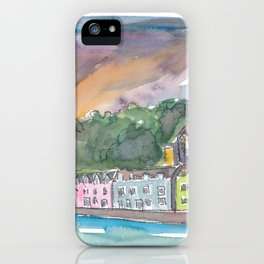 Portree Isle of Skye Scotland Sunset iPhone Case