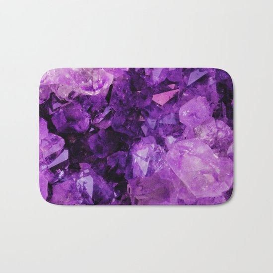 Purple Amethyst Crystals Bath Mat