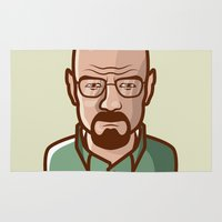 walter white Area & Throw Rugs featuring Walter White by Sherif Adel