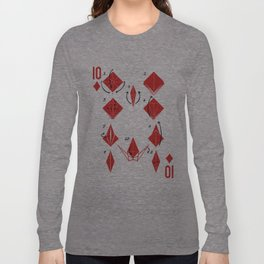 Clipped Wings Deck: The 10 of Diamonds Long Sleeve T-shirt