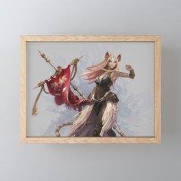 Fantasy Women Woman Animal Ears Framed Mini Art Print