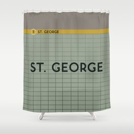 ST. GEORGE   Subway Station Shower Curtain