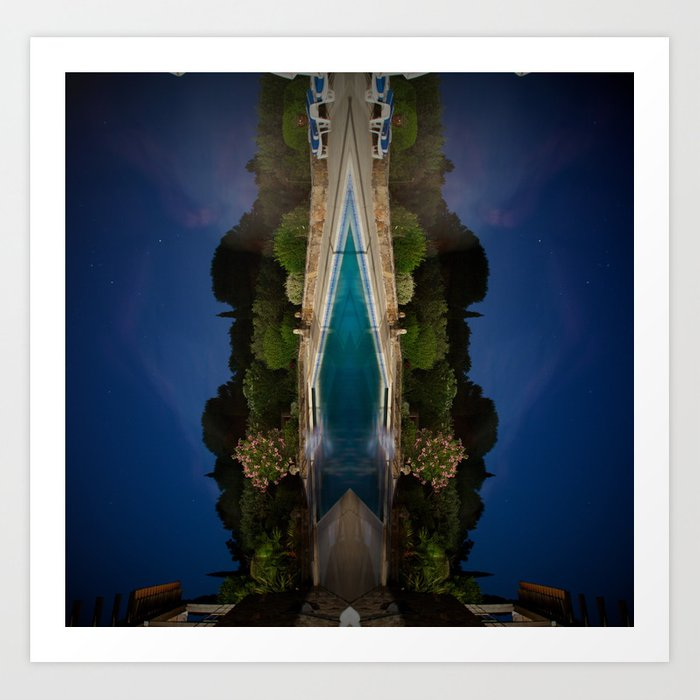 Grimaud Village night away from St Tropez, France. Art Print