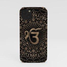 Ek Onkar / Ik Onkar Black and Gold #1 iPhone Case