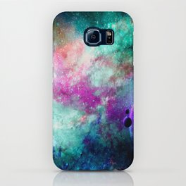 Teal Galaxy iPhone Case