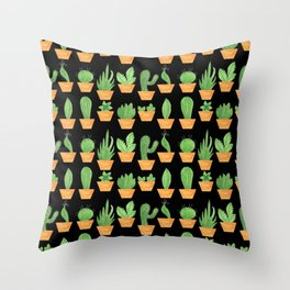 Pattern #65 - Succulents and cacti Throw Pillow