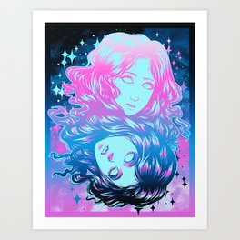 Two Faces - Color Art Print