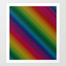 Sophisticated Rainbow Art Print