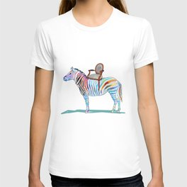 animals with chairs #4 Chair on a Zebra T-shirt