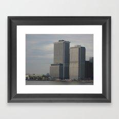 Manhattan from Brooklyn Framed Art Print