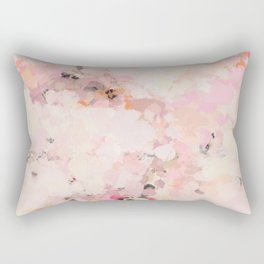 Abstract in Ivory Orange and Pink Rectangular Pillow