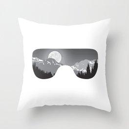 Moonrise Goggles - B+W - White Frame | Goggle Designs | DopeyArt Throw Pillow
