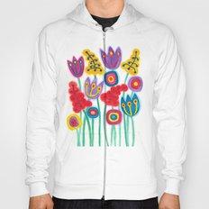 raw flower garden with tulips Hoody