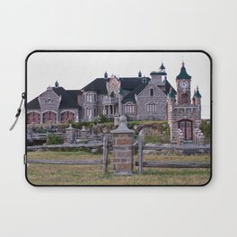 Stone Mansion on the River Laptop Sleeve