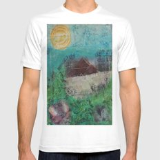 The Barn White Mens Fitted Tee MEDIUM