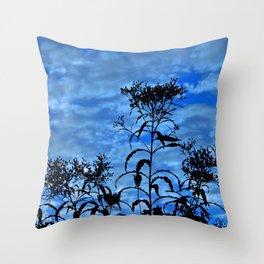 Blue Sky Silhouette Throw Pillow