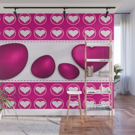 Love celebration easter hearts Wall Mural