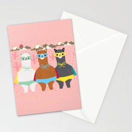 Alpaca Superheroes I Stationery Cards