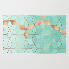 Soft Gradient Aquamarine Rug