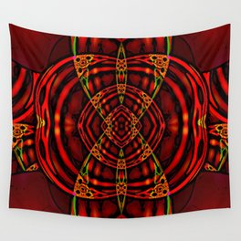 Red Maniac Wall Tapestry