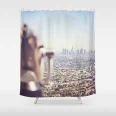 View from the Top, Los Angeles Shower Curtain