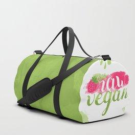 QUOTE Raw Vegan Strawberry Duffle Bag