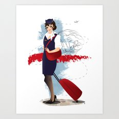 Come fly with me, let's fly, let's fly away - Poland Art Print