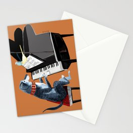Piano lesson with Angel Stationery Cards