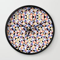 90s Wall Clocks featuring 90s geometrics by Lily Mitchell