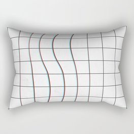 Square Glitch Pattern Rectangular Pillow