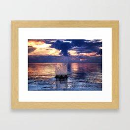 Sunset Splash Framed Art Print