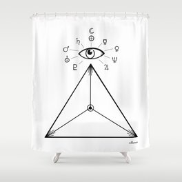 Freemasonry Shower Curtain