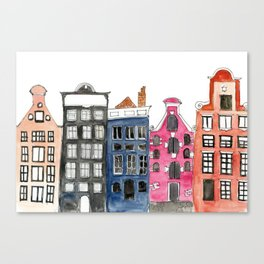 Amsterdam Canal Houses Canvas Print