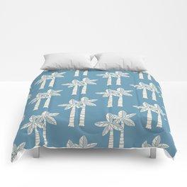 Palm Tree Pattern Blue 22 Comforters