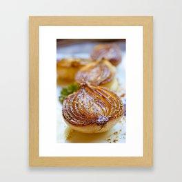 Caramelized Balsamic Onions Framed Art Print
