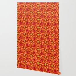 Flaming Sunflower Wallpaper