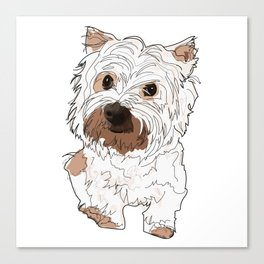 Lolo, West Highland Terrier Canvas Print