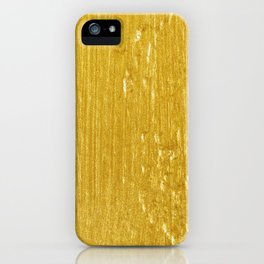 Luxury Solid Gold Paint Texture iPhone Case