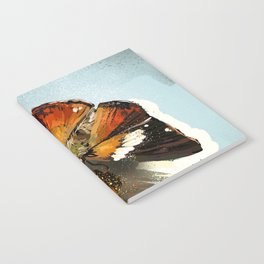 Butterfly on flower 12 Notebook