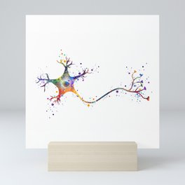 Neuron Art Brain Cell Biology Art Watercolor Neurology Medical Science Art Biology Gift Mini Art Print