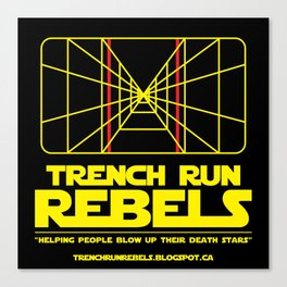 Trench Run Rebels Canvas Print