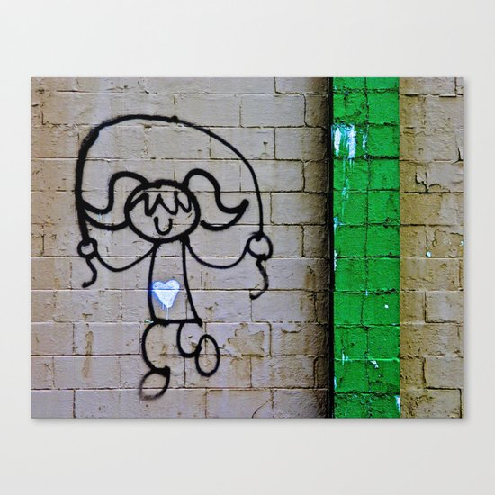 Jump Rope Street Art Canvas Print