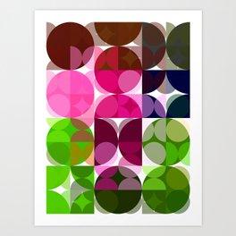 Rosas Moradas 1 Abstract Circles 3 Art Print
