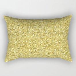 Chunky gold glitter Rectangular Pillow