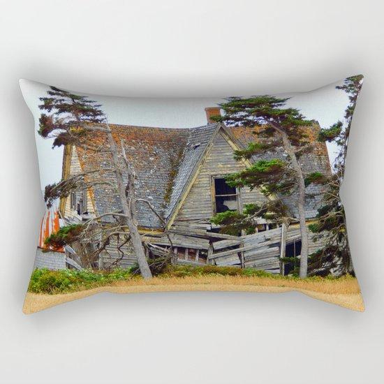 Abandoned Collapsing Homestead Rectangular Pillow