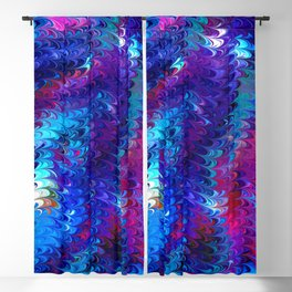 Colorful abstract waves Blackout Curtain
