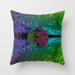 Time and Space contour Throw Pillow