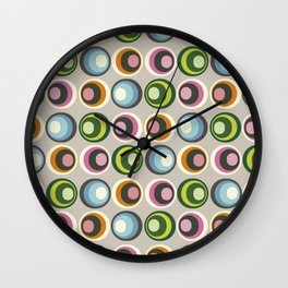 Retro midcentury geometric: Suture Wall Clock
