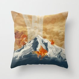 The Fish of Mt Hood Throw Pillow