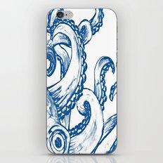 Blue Octopus iPhone & iPod Skin